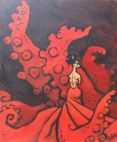 Image result for abstract paintings on akkamahadevi