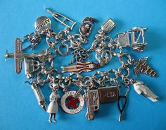 Vintage Sterling Silver Medical Doctor & Nurse Theme Charm Bracelet by Just4Girls on Ruby Lane.