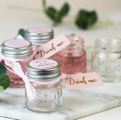 Personalised Shot Jars with Pink Gin or Limoncello For Wedding Favours Personalised Shot Jars filled with Pink Gin or Limoncello For Wedding – Hearth and Heritage Alcohol Wedding Favors, Wedding Favour Jars, Rustic Wedding Favors, Wedding Favors Cheap, Cute Wedding Ideas, Wedding Decorations, Beach Wedding Reception, Garden Party Wedding, Diy Wedding