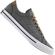 Tênis Adidas VLNeo 3 Stripes LO Casual Masculino Cinza / Marrom