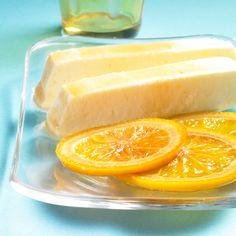 in erfrischendes Eis mit feiner Orangennote für sommerliche Tage