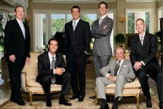 Fundadores Xango de izquierda a derecha;   Bryan Davis,  Gordon Morton,  Aaron Garrity,  Joe Morton,  Gary Hollister,  Kent Wood