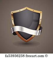 Black shield with a golden frame and a silver ribbon for text. Free art print of Black Shield and Silver Ribbon. Shield Icon, Shield Logo, Vector Design, Logo Design, Shield Vector, Ribbon Logo, Logo Psd, Logo Samples, Blue Shield