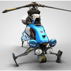 Single Seat Helicopter Design by Igarashi Design | Future Technology