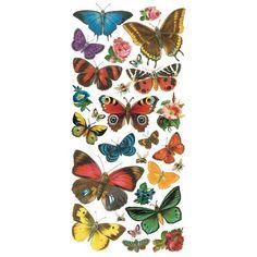 1 Sheet of Stickers Mixed Forest Butterflies