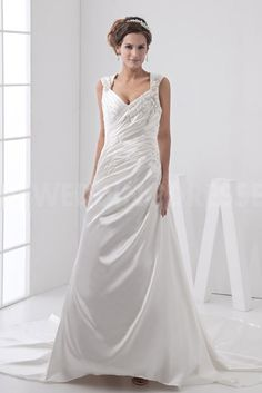 Ivory Satin Strapless Wedding Dresses - Order Link: http://www.theweddingdresses.com/ivory-satin-strapless-wedding-dresses-twdn3727.html - Embellishments: Beading; Length: Floor Length; Fabric: Satin; Waist: Natural - Price: 159.4084USD