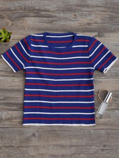 SHARE & Get it FREE | Knitting Stripes Cropped Top - BlueFor Fashion Lovers only:80,000+ Items • New Arrivals Daily Join Zaful: Get YOUR $50 NOW!