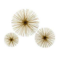 Brass Flower Starbursts