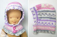 Knitted scarf cap for babies - free instructions for beginners - Talu.de Knit Scarf Cap for Babies – Free Instructions for Beginners – Talu. Boho Headband, Twist Headband, Knitted Headband, Knitted Hats, No Slip Headbands, Running Headbands, Knit Crochet, Crochet Hats, Headband Pattern