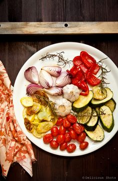 Delicious Shots: Roasted Summer Vegetables