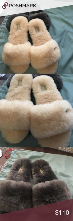 UGG slippers Brand-new never even worn UGG slippers super cute and lightweight can even wear them in the summer for separate listing just let me know or if you would like to buy both I can give you a good price on both of them UGG Shoes Slippers