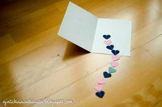 DIY valentine's day card // ajatuksiasaksasta.blogspot.com