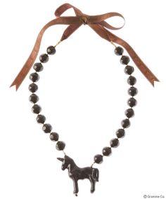 Lollipop Chocolate Unicorn Necklace