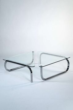 Anonymous; #2593 Modular Low Tables by Fontana Arte, 1970s.
