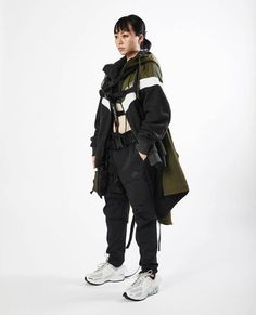 Yuzuki Shen x Nike deconstruction & reconstruction collection Moda Cyberpunk, Cyberpunk Fashion, Inspiration Mode, Character Design Inspiration, Looks Style, My Style, Cool Outfits, Fashion Outfits, Female Outfits