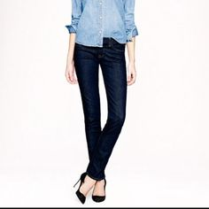 J Crew size 28 tall matchstick jeans J crew matchstick jeans, size 28 tall. This is a straight cut: the waist and hips measure 16 inches across when laid flat. Superlong 36 inch inseam. Ankle opening is 7 inches. I think they run a bit small: closer to a size 4 or a slim 6. No fraying. J. Crew Jeans Straight Leg