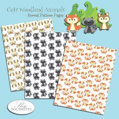 FREE printable woodland animal pattern papers