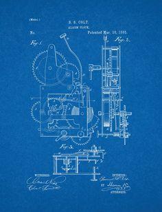 Camera vintage patent poster screen print decoration technical amazon alarm clock patent art blueprint poster 16 x 20 malvernweather Gallery