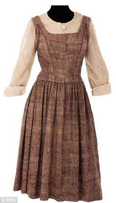 This is the brown dress worn by Maria as she sang 'Do-Re-Mi' to the Von Trapp children