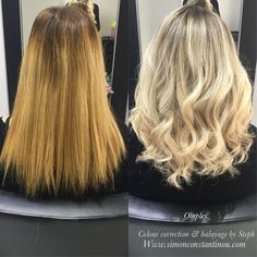 What a difference a day makes! this colour correction by Steph using @olaplex is beautiful toning that brassiness right down to a reveal a lovely creamy blonde @golwelluk #iamgoldwell #simonconstantinou #behindthechair #modernsalon #balayage #blondebalayage #colorcorrection #blondehair #kms #goldwell #goldwelluk If you would like to book in with Steph or one of our talented colourists call02920461191 O.Constantinous & Sons. 99 Crwys Rd Cardiff. CF24 4NF.