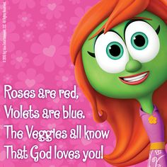 The most special message is that God loves you! 'Share' with someone you love this Valentine's Day! ‪#‎VeggieTales‬