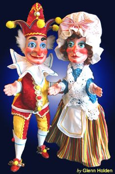 Punch & Judy Glove Puppets by Glenn Holden