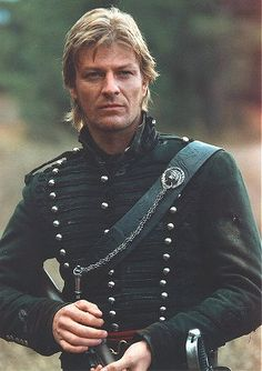 Sharpe: a soldier from Yorkshire is raised to the officer ranks in the Napoleon Wars. Sean Bean stars as the roguish Richard Sharpe.