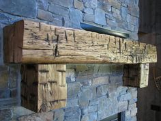 Beautiful Hand-Hewn Mantel - photo sent in by one of our customers