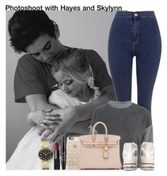 """""""Photoshoot with Hayes and Skylynn"""" by unknowgirl-1 ❤ liked on Polyvore featuring Topshop, Converse, Casetify, Hermès, NYX, NARS Cosmetics and Marc by Marc Jacobs"""