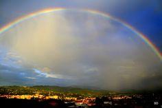 Rainbow - North Italy. Photo (c) Subho Das