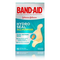 Buy Band-Aid Brand Hydro Seal Waterproof All Purpose Adhesive Bandages for Wound Care or Blisters, 10 ct Natural Rubber Latex, Bandage, Allergy Relief, Wound Care, First Aid Kit, Natural Healing, Allergies, Health Care, Home