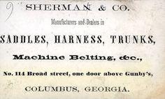 Vintage business card...saddles, harness, trunks...