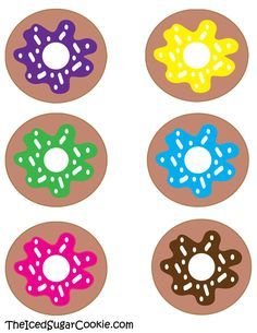 Free Donut Birthday Party Printables Ideas Templates Food Label Cards Flag Banner Invitations Cutouts The Iced Sugar Cookie