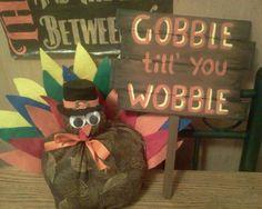 Wooden sign & Turkey 2013 #Thanksgiving Craft