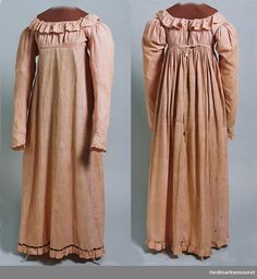 Hedmarksmuseet, Norway; Item ID. OF.0842; cotton Dress, 1810-1815.