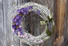 paper rose wreath home decoration flower wreath roses by mamwene