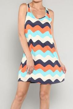 Wavy Stripe A-Line Dress available on Facebook at Southern Socialite, LLC!
