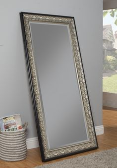 Wall Length Mirror beautifully embossed from steel with a rustic finish, this large