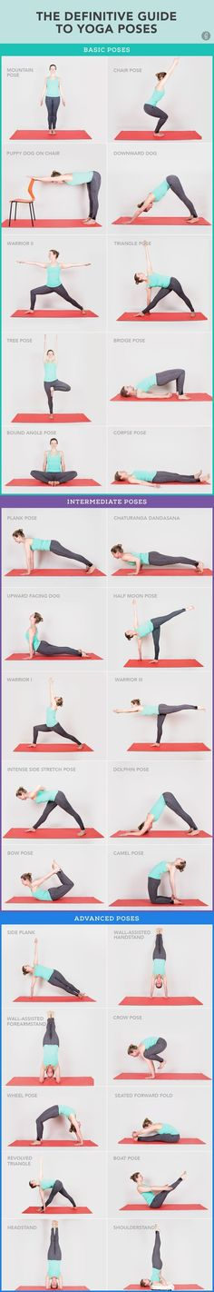 30 Yoga Poses You Really Need To Know Fitness How Exercise Health Diy
