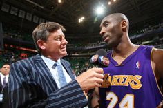 Craig Sager, seen here interviewing Kobe Bryant in 2010, calls the deal between Turner and ESPN to allow him to work his first NBA Finals game a 'tremendous opportunity.' (Melissa Majchrzak/NBAE/Getty Images)