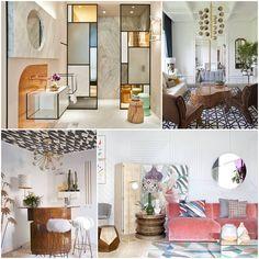 Mobiliario  Destacan los muebles de líneas rectas, puras y minimalistas.  En algunos casos, los muebles y complementos se disponen de forma geométrica y se incorporan piezas con formas curvadas, como mesas, sofás y hasta muebles de baño, con lo que se obtiene un resultado más escultórico. Casa Decor 2016