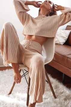 Loungewear Outfits, Loungewear Set, Casual Outfits, Cute Outfits, Fashion Outfits, Womens Fashion, Cozy Fashion, Winter Outfits, Lounge Outfit