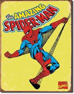 Spiderman Poster Tin Sign Retro Marvel Comics Super Hero   eBay