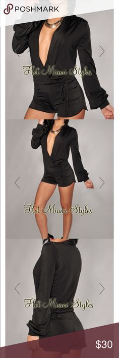 Black romper Black mini romper Pants Jumpsuits & Rompers