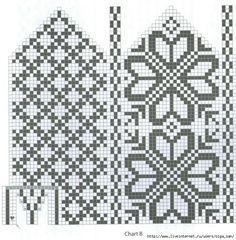 Intarsia Patterns, Fair Isle Knitting Patterns, Knitting Paterns, Bead Loom Patterns, Knitting Charts, Weaving Patterns, Knitted Mittens Pattern, Knitted Slippers, Knit Mittens