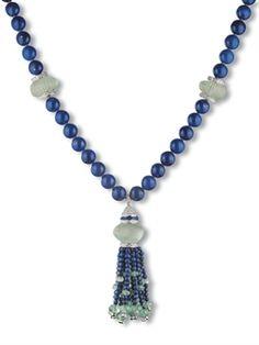Scavia Jewelry # www.bollicinedistile.com Tassel Jewelry, Tassel Necklace, Jewelery, Jewelry Necklaces, Luxury Store, Vintage Diamond, Lapis Lazuli, Diamond Cuts, White Gold