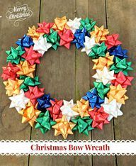 Frugal Crafts - Christmas Bow Wreath - Just 2 Sisters