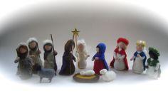 Weihnachts-krippe.Gefilzt.Waldorf von Filz-Art. auf DaWanda.com
