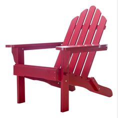 Exclusive Folding Wood Adirondack Chair   Painted Red