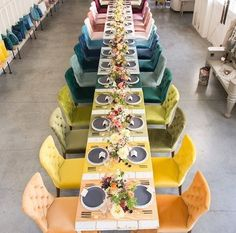 #fun #different #color #seating with a great #eventdesign